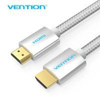 cabos de computador de maçã venda por atacado-Vention HDMI Cabo HDMI para Cabo Trançado 2.0 4 K 1080 P 3D para PS3 Projetor HD LCD Apple TV Cabos de Computador