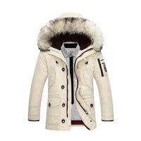 ingrosso giacche invernali lunghe invernali-Vêtements pour hommes doudoune mens designer inverno cappotti piumino giacca invernale di lusso cardigan manica lunga