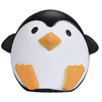 Wholesale cute penguin cartoons - Small Eyed Penguin PU Cute Lovely Cartoon Pendant Kawaii Squishy Simulation Bread Food Squishy Super Kid Toy Decompression Toys
