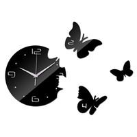 Wholesale reloj pare online - New Wall Clock Diy Ciocks Quartz Watch Acrylic Mirror d Stickers Living Room Europe Needle Reloj De Pared Horloge Murale