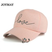 Wholesale Wholesale Embroidery Hoops - Joymay New arrival high quality snapback cap iron hoop bead on visor love embroidery hat for women baseball cap B421