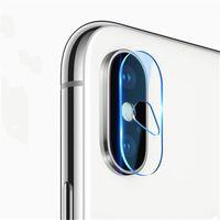 kristallklare schirmschutz galaxie großhandel-9H gehärtetes glas für iphone X / XR / XR MAX kamera objektiv 0,15mm schützende rückseite abdeckung schutz für neue iPhone modell