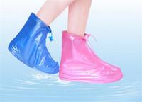 capas de capa de chuva venda por atacado-Protetor À Prova D 'Água Sapatos Bota Tampa Unisex Zipper Chuva Sapato Cobre Alto-Top Anti-Slip Casos de Sapatos de Chuva