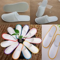 Wholesale disposable flip flop slipper - Bath Disposable Slippers Hotel Towelling Slippers EVA Slipper Men Women Flip Flop White Multi color Indoor Cheap Slipper WX9-441