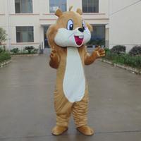ingrosso costumi marrone code-Alta qualità Make EVA Materiale Casco marrone Big tail scoiattolo Mascotte Costumi Cartoon Apparel Festa di compleanno Masquerade WS1016