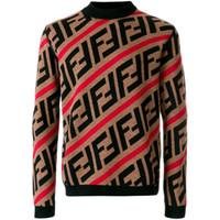 mens sıcak uzun kollu pulover toptan satış-Lüks Kazak Kazak Erkekler Hoodie Uzun Kollu Tasarımcı Kazak Mektup Nakış Triko Kış Marka Erkek Giyim Sıcak Tutmak