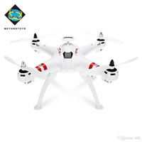 mini helicóptero sin escobillas al por mayor-BAYANGTOYS Drone GPS sin escobillas Motor RC Quadcopter RTF 2.4GHz 4CH 6Axis Retorno automático 360 Degree Flip Mini Drones RC Helicopter + NB