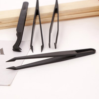 Wholesale assembly tools for sale - Black Plastic Tweezers Elbow And Sharp Head Portable Diamond Painting Tool Practical Anti Static Clip High Quality cq Ww