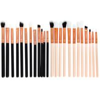 sentetik saç makyaj fırçaları toptan satış-12 adet Göz Farı Makyaj Fırçalar Seti Pro pinceaux maquillage kaş fırçası Karıştırma Makyaj Fırçalar Yumuşak Sentetik Saç Q162