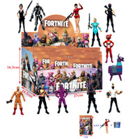 Wholesale NEW Styles Fortnite Series Dolls Box Hand made Fortress Night Inch With Weapon Doll Toy Furniture Accessories