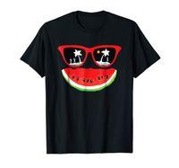 Wholesale anti sand glasses resale online - Watermelon Glass Summer T Shirt Beach Sun And Sand Cartoon Print Short Sleeve T Shirt Interesting