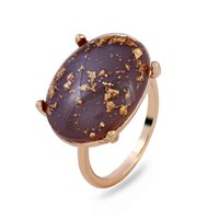 Wholesale Luxury Boho Fashion - gold Alloy Rings 2018 new fashion luxury Fashion Brand Vintage boho top grade big gem resin Rings for women Jewelry wholesale free shipping