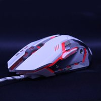 Wholesale Wired gaming mouse mause adjustable DPI LED optical USB mouse and mouse cable professional game player alliance Dota2