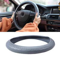 Wholesale white spokes - Natural Silicone Steering Wheel Cover Universal Soft Skidproof Shell Protector for Vehicle Steering wheel