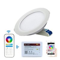 controle wb rgb branco venda por atacado-LED Downlights Mi Spot Light lâmpada 110V AC 220 V WIFI Remote Control RGB + CCT duplo Branco 6W 12W para Home teto Painel Lampara + Ibox2 Hub
