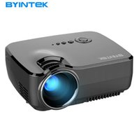 Wholesale Best Portable Led Projector - Projector BYINTEK GP70 2017 Best sale Portable Led Projector HD USB HDMI LCD cinema LED Mini Video Digital Home Theater Beamer