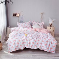 Wholesale chinese style king size bedding resale online - Home Textiles Pink Watermelon Adult Bedding Sets Duvet Cover Pillowcase Sheet Linen Twin Full Queen King Size