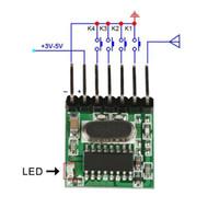 transmissor mini rf venda por atacado-QIACHIP Universal Sem Fio Mini 315 Mhz DC 12 V 1527 RF Módulo Transmissor de Botão de Relé Para Casa Inteligente LEVOU Controle Remoto 10 pcs