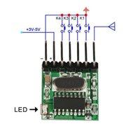 ingrosso modulo relè di controllo-QIACHIP Universale Wireless Mini 315 Mhz DC 12 V 1527 Modulo Relè Pulsante di Trasmissione Per Smart Home LED Telecomando 10 pz