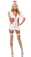 униформа для медсестер оптовых-Бесплатная доставка новое сексуальное женское белье косплей Хэллоуин медсестра знания перспективы равномерное набор игры косплей костюм искушение равномерное