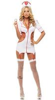 krankenschwester uniform kostüme cosplay großhandel-Freies Verschiffen-neue reizvolle Wäsche cosplay Halloween-Krankenschwester-Überlieferungs-Perspektiven-Uniform-gesetzte Spiel Cosplay Kostüm-Versuchung-Uniform