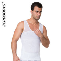 Wholesale shapewear clothing online - Slim Vest Men Clothes Hot Shapers Body Shapewear Zipper Double Stretch Mesh Slimming Corset For Male Trainers Vest