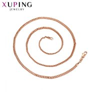 Wholesale Fashion Jewelry Deals - whole sale11.11 Deals Xuping Fashion Necklace American Style Rose Gold Color Plated Link Accessories Necklace Jewelry S60-43428