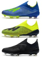 Wholesale tangos shoes online - 2018 New mens soccer cleats Ace Purechaos FG soccer shoes X Purechaos FG football boots high ankle X ACE Tango PureControl