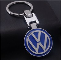 Wholesale key holders for car brands - Car Logo Key Chain Colorful Volkswagen Keyring Keychain For VW Volkswagen touareg tiguan Golf Key Holder All Brands available
