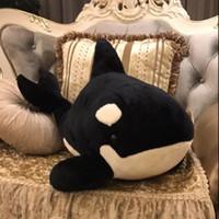balina peluş oyuncak toptan satış-1 Adet 35 Cm Katil Balina Peluş Bebek Dolması Hayvan Oyuncak Çocuklar Kız Arkadaşı Doğum Günü Hediyesi