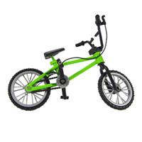 Wholesale bicycle collection resale online - 1Pcs Kids Toy Finger Bicycle Boy Mini Alloy Plastic Finger Bicycle Toy for Collection and Great Gift Children Car Toys