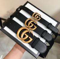 67cba3eb88a TOP hommes ceinture femmes haute qualité en cuir véritable noir et blanc  couleur Designer ceinture en peau de vache pour Mens luxe ceinture  livraison ...