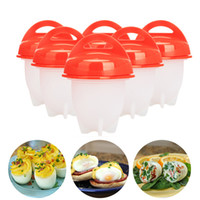 Wholesale cook accessories - 6psc lot Egglettes Egg Cookers Egg Cooking Pots without the Shell Egg Gadgets Silicone Molds Eggies Kitchen Accessories
