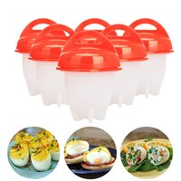 Wholesale kitchen accessories - 6psc Egglettes Egg Cookers Egg Cooking Pots without the Shell Egg Gadgets Silicone Molds Eggies Kitchen Accessories