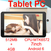 Wholesale 7inch Tablet PC Dual core MTK6572A Android Strong Capacitive MB RAM GB ROM WIFI Bluetooth G Camera CORTEX A7 ECPB