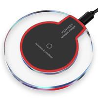 x mini ambalaj toptan satış-Iphone x 8 için kablosuz şarj 8 artı mini ultra-ince hızlı şarj pad galaxy s8 artı perakende paketi ile