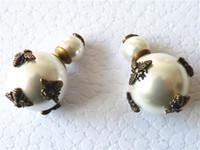 Wholesale Black Pearl Chandelier Earrings - 2018 new Charm brand luxury Fashion women Pearl rhinestone Bees earrings best gift for ladies jadior