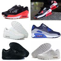 Wholesale Womens Flower Shoes - 20 color New 90 Low Running Shoes For Men Women Cheap AM 90 Sport Shoes Flower Mens Womens shoes Eur 36-46