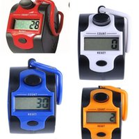 Wholesale digit counters for sale - Group buy New Activing Five Digit Electronic LCD Digital Hand Tally Plastic Counter Golf Multiple Colors Low Power Consumption gj dd