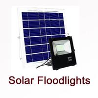 luz solar solar luzes venda por atacado-Holofotes de luz LED Solar 30 W 50 W 100 W Super Brilhante Solar Powered Painel Holofote À Prova D 'Água IP67 Lâmpada de Rua com controle Remoto