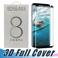 Wholesale 3d tempered glass online - Good Quality Case Friendly Curved D Tempered Glass For Samsung Galaxy S7 edge S8 S9 Plus Note Screen Protector With Retail Package