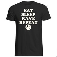 EAT SLEEP RAVE REPEAT MENS T SHIRT FUNNY ICON PRINT NEON CLUB DANCE MUSIC GIFT