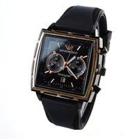 Wholesale new products business online - Top Fashion Silicone Strap Quartz Watches Men s Leather Watches Square Sports Business Watch Life Waterproof Brand Men s Clock Hot Products