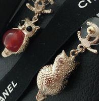créateurs de bijoux de pierre gemme achat en gros de-Best-seller de nouvelles pierres précieuses d'alphabet de créateur de pierres précieuses d'oreille clip dames bijoux cadeau accessoires de mode