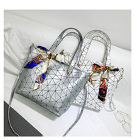 Wholesale silver diamond ribbon - Hot Fashion Large Capacity Bag Casual Street Travel Bags Women Shoulder Messenger Bag Ribbons Cross Body Packet