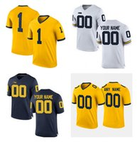 Wholesale yellow peppers - Michigan Wolverines Custom College Football Jersey Any Name Any Number White Yellow Navy Stitched Charles Woodson Jabrill Peppers Jersey