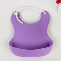 baby bib Three-dimensional Silicone bib plastic leak-proof baby disposable rice pocket soft bib wholesale