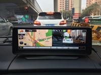 rétroviseur dvr bluetooth achat en gros de-Moniteur de rétroviseur de voiture de GPS Bluetooth de rétroviseur de voiture de l'appareil-photo DVR de voiture androïde 3G de pouce 3G