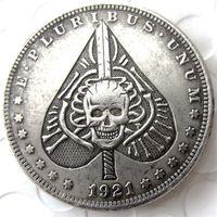 44315e27d Wholesale arts skeletons online - HB US Hobo Morgan Dollar In Skull Zombie  Skeleton Heart Copy