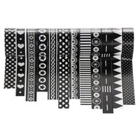Wholesale black white paper stickers for sale - 2016 Washi Tapes Set Masking Tape Adhesive Paper Stickers Craft DIY Scrapbooking Decoration mm X M Black White Patterns